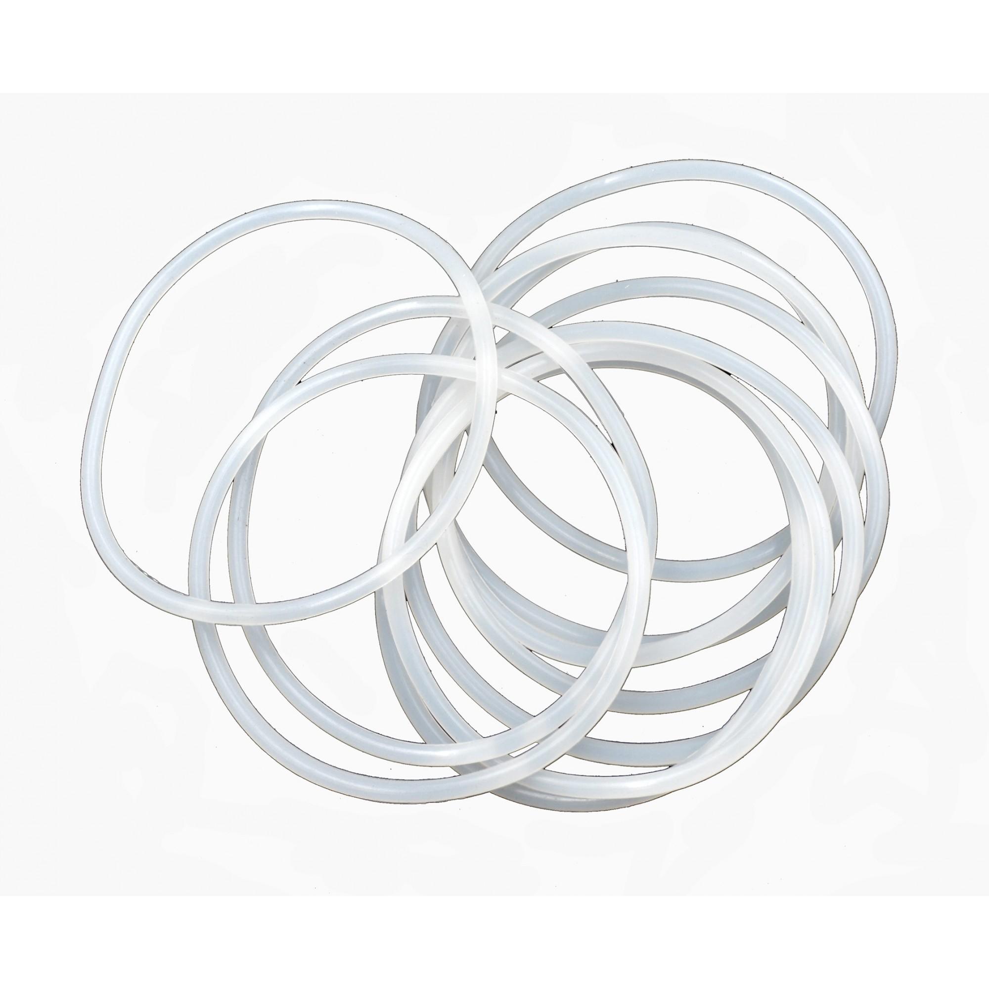Упаковка силиконовых прокладок 10 шт кольцо на колбу фильтра малая 93мм*85мм*4мм J.G.