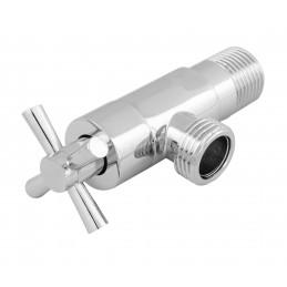 Кран угловой вентильный (приборный) 1/2н-1/2нXY-8050, ручка крест ANGO