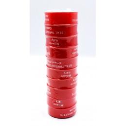 Упаковка фум стрічки 10 шт червона Milano 12 * 0.075 * 8м