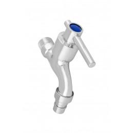 Кран сливной (садовый), 1/2 хром метал, (8003-S 007) J.G.