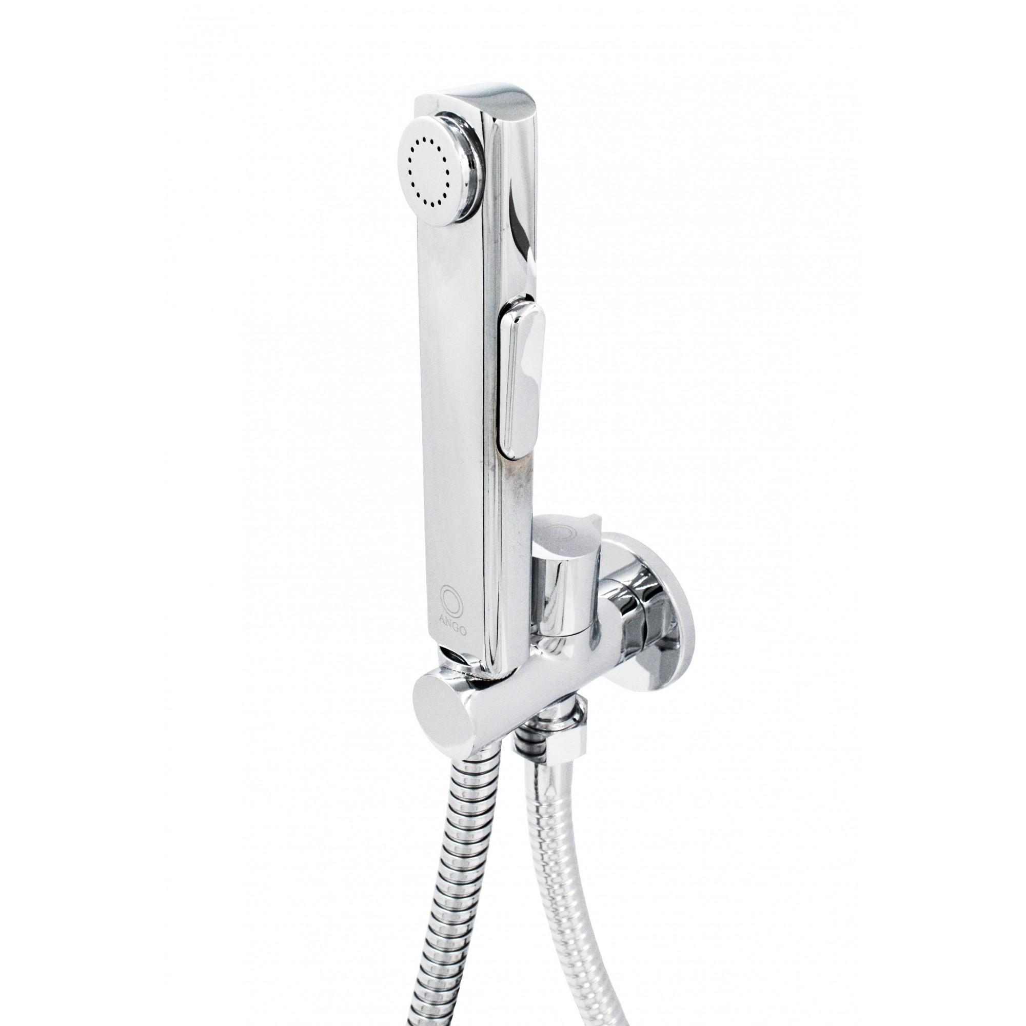 Комплект для биде ANGO SET-25 держатель проходной, шланг, лейка для биде ANGO