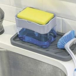 Нажимная емкость для моющего и кухонной губки 2 в 1 ANGO ANGO