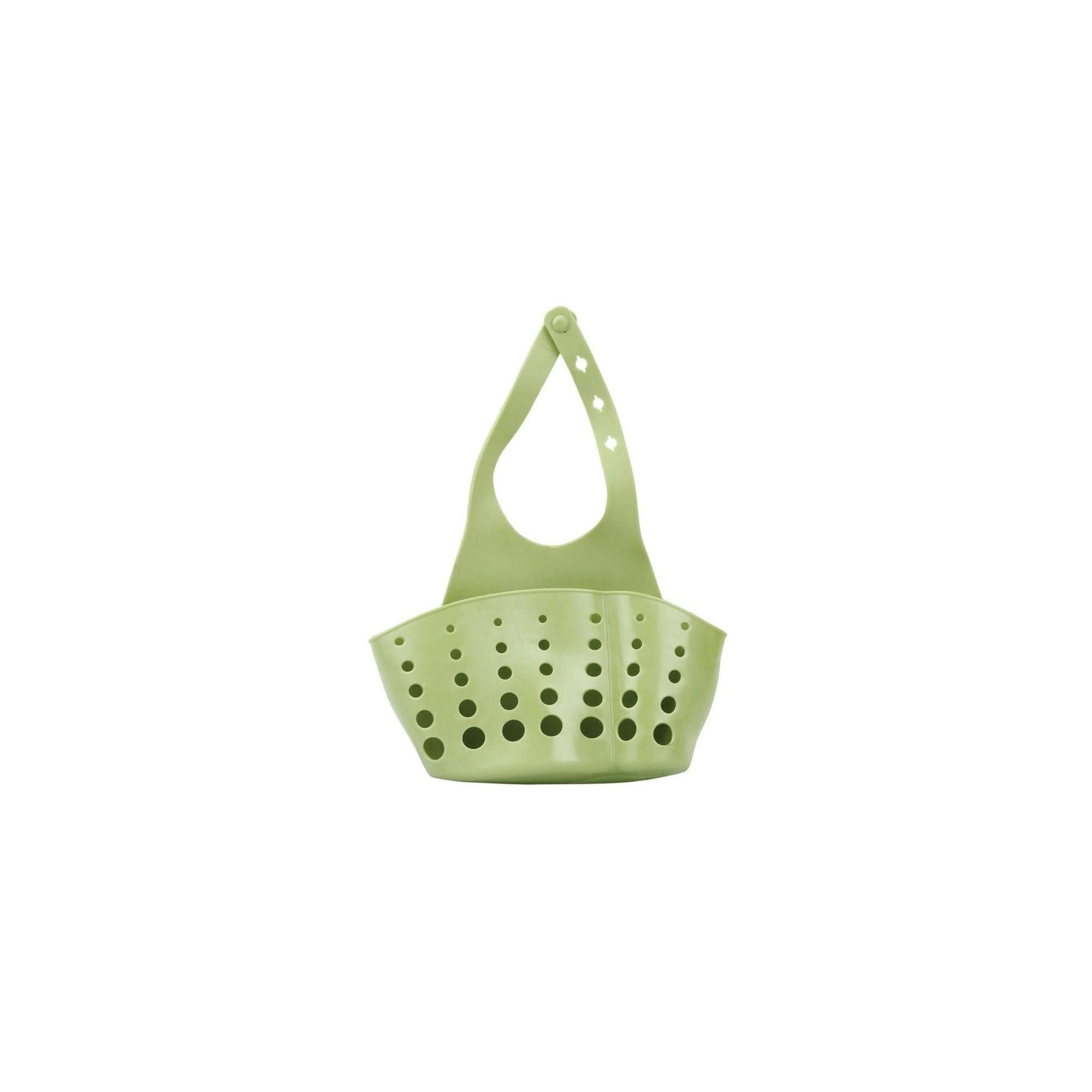 Подвесная корзинка-органайзер для кухонных губок и принадлежностей, пищевой силикон ANGO зеленый ANGO