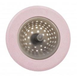Сеточка для сбора мусора, силикон, пластик ANGO розовая ANGO