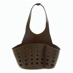 Подвесная корзинка-органайзер для кухонных губок и принадлежностей, пищевой силикон ANGO коричневый ANGO