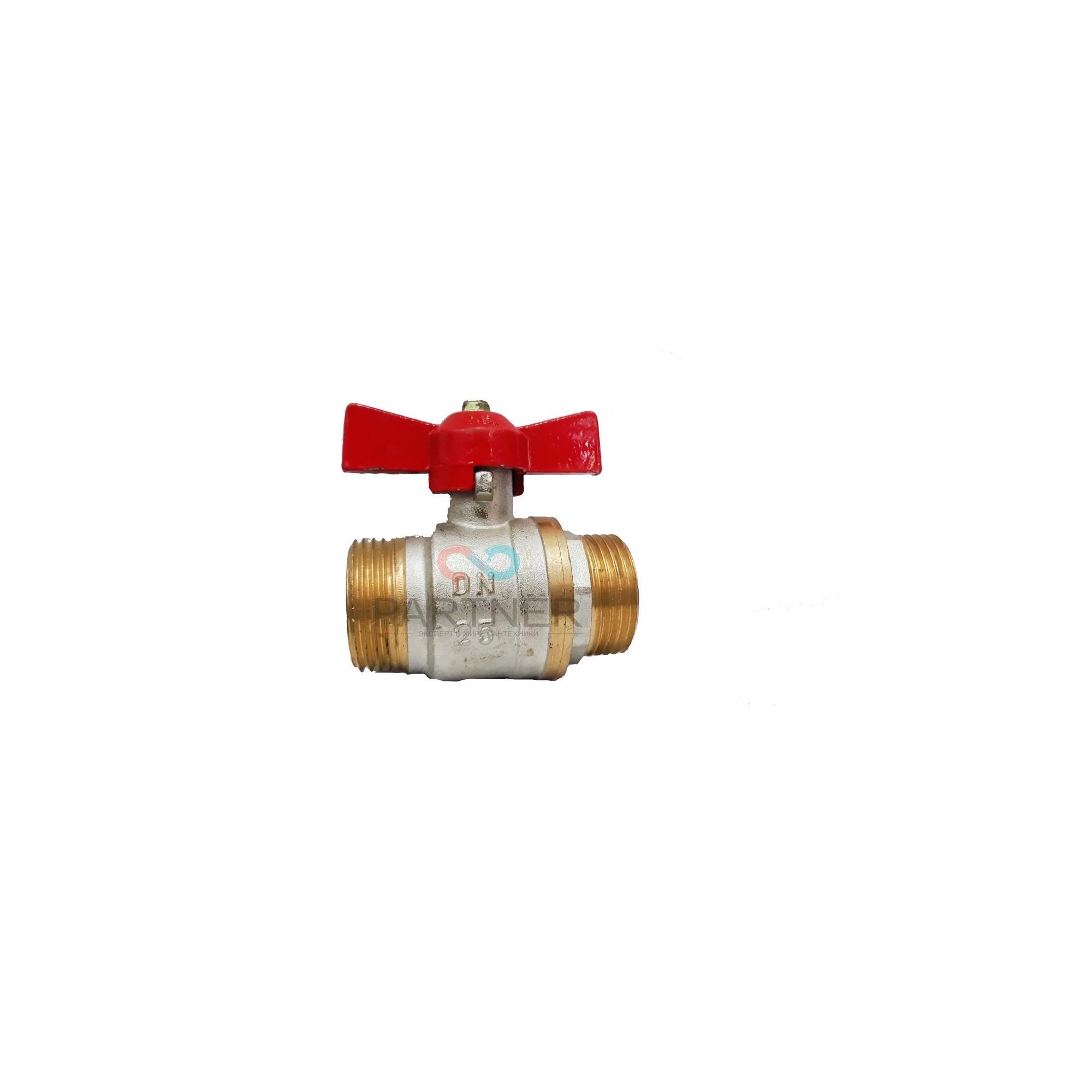 Кран шаровый Valve JG 1'' нн красная бабочка для воды J.G. - 1