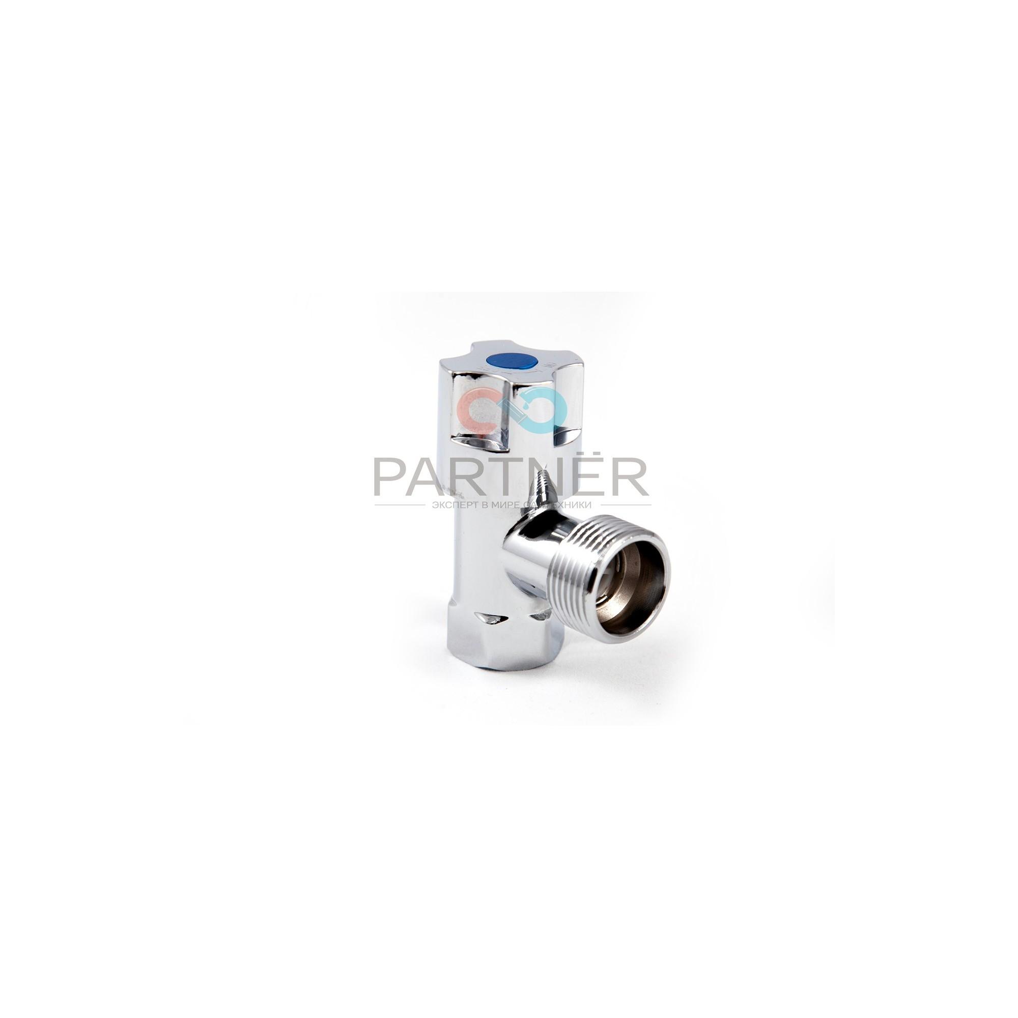Кран угловой вентильный (приборный) 1/2в-1/2н хром AN-1117 (букса керамика) ANGO ANGO - 1