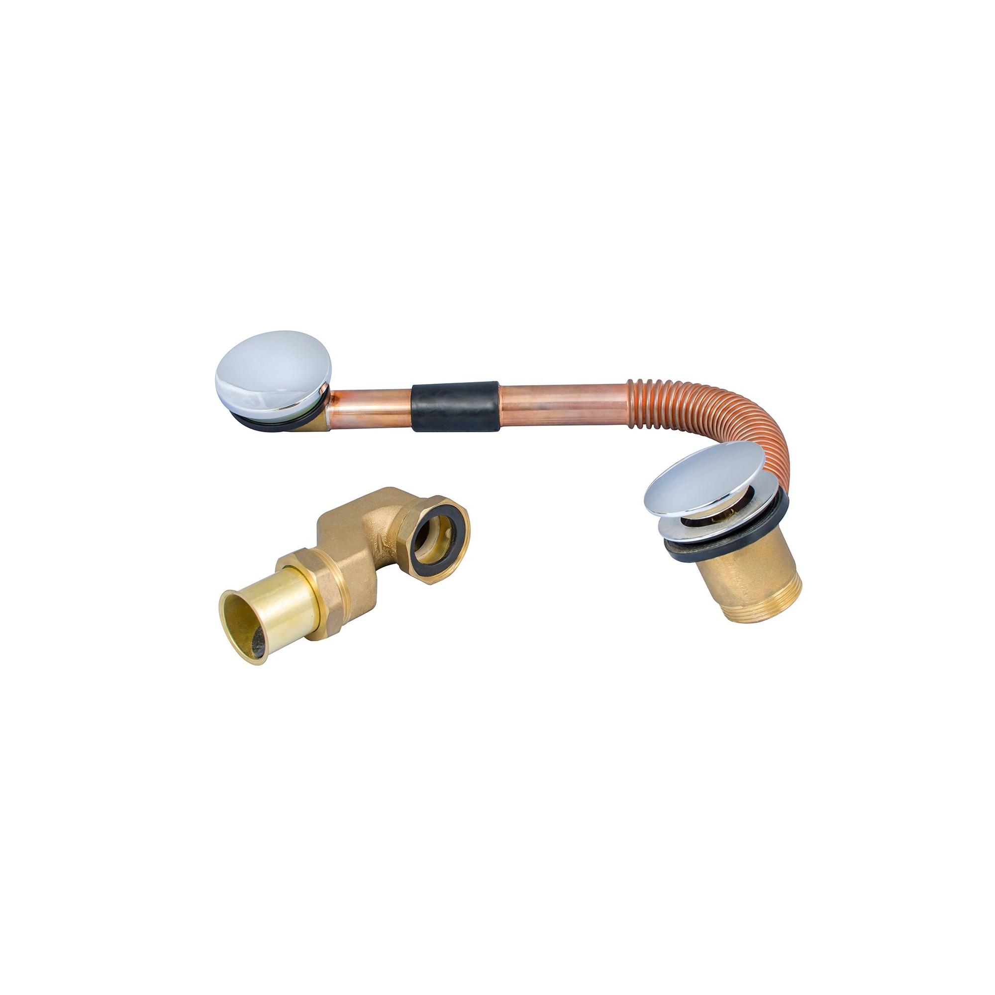 Сифон для ванной латунный с переливом 1 1/2 J.G. - 1