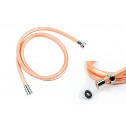 Шланг для душа ANGO, ПХВ 150 см, квадратное сечение, оранжевый ANGO - 1