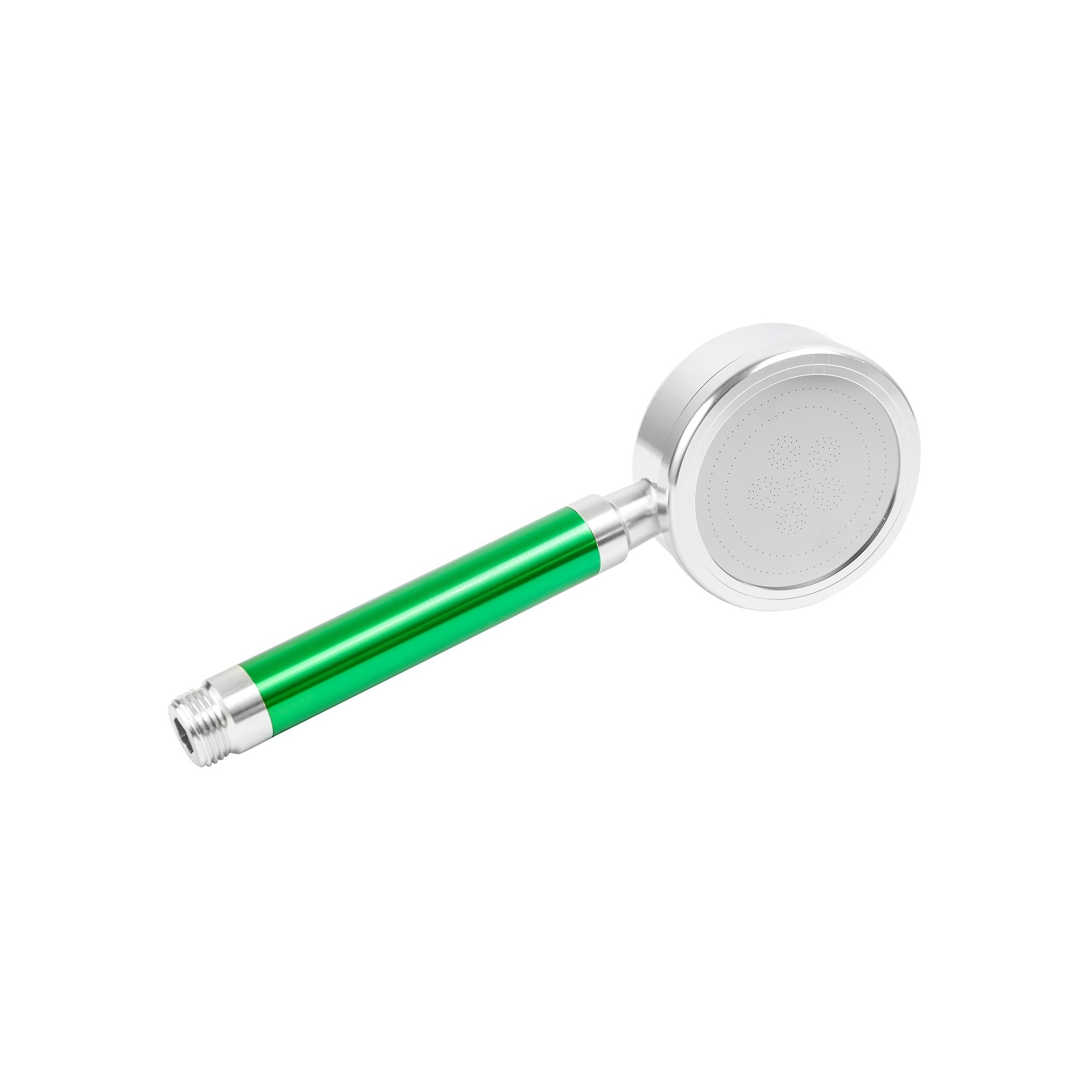 Лейка душа алюминиевая разборная с фильтром, зеленая ANGO - 1