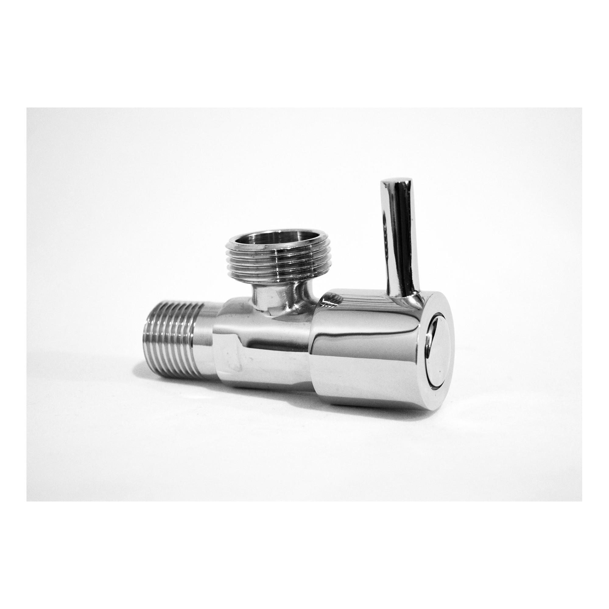 Кран угловой вентильный 1/2н на 3/4н хром, латунь YD-502 керамическая букса ANGO ANGO - 1