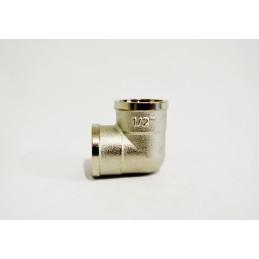 Угол 1/2вв никелированный, латунь ANGO - 2