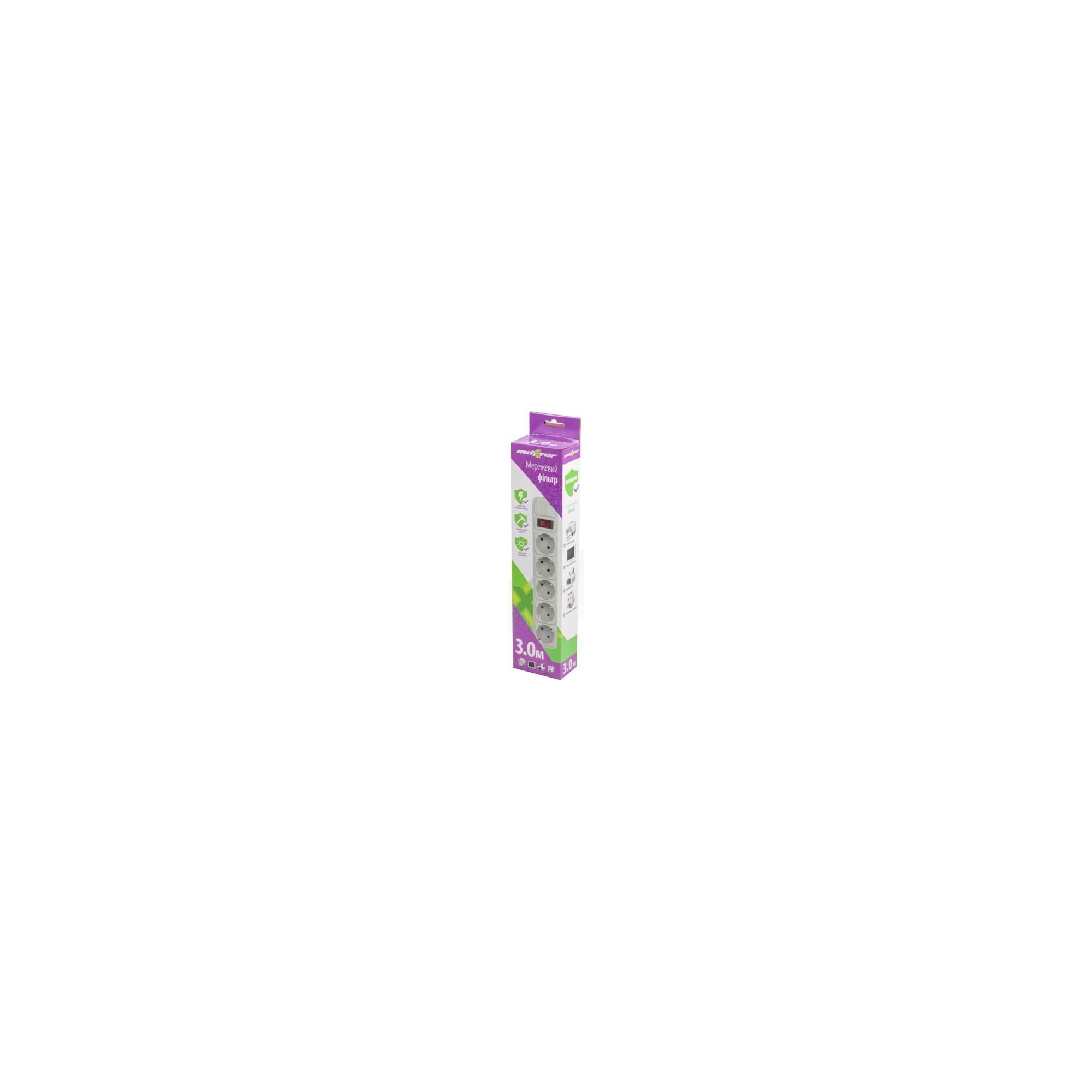 Сетевой фильтр MAXXTER, 3 м, 5 розеток MAXXTER - 1