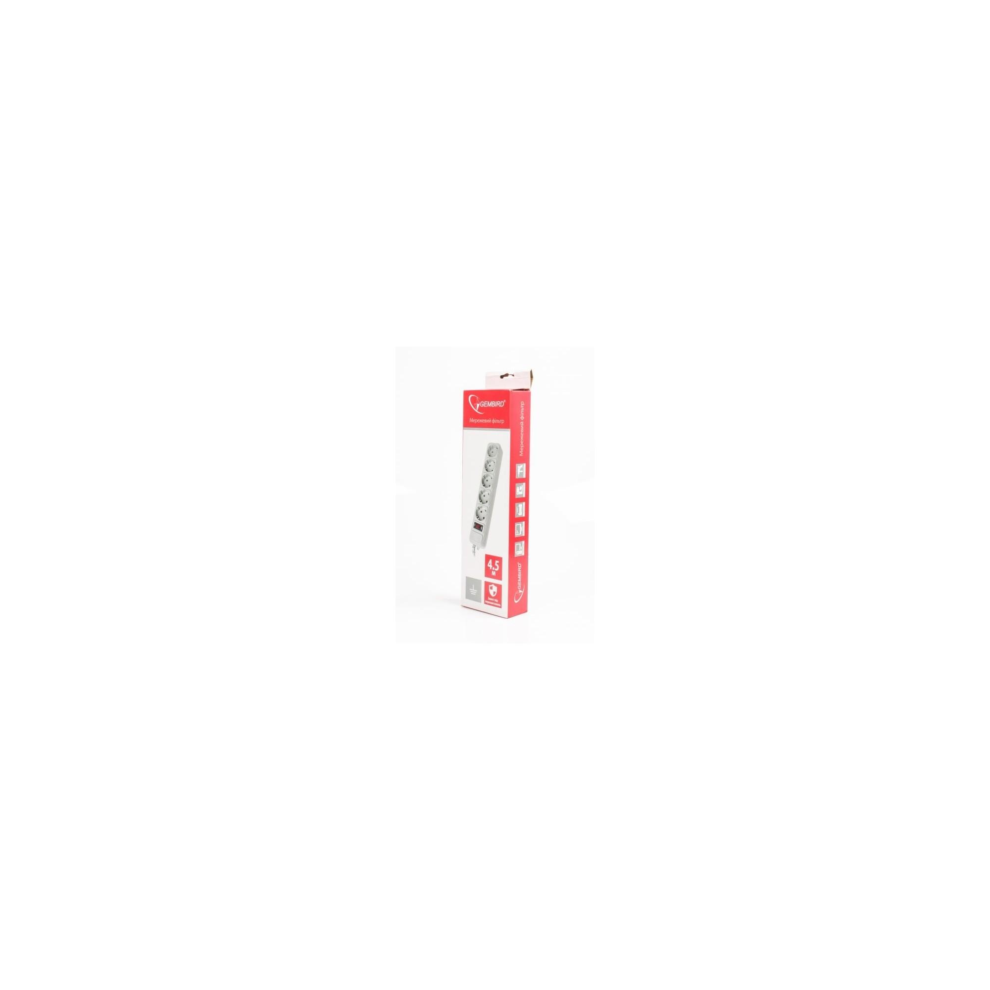 Сетевой фильтр GEMBIRD, 4,5 м, 5 розеток GEMBIRD - 1