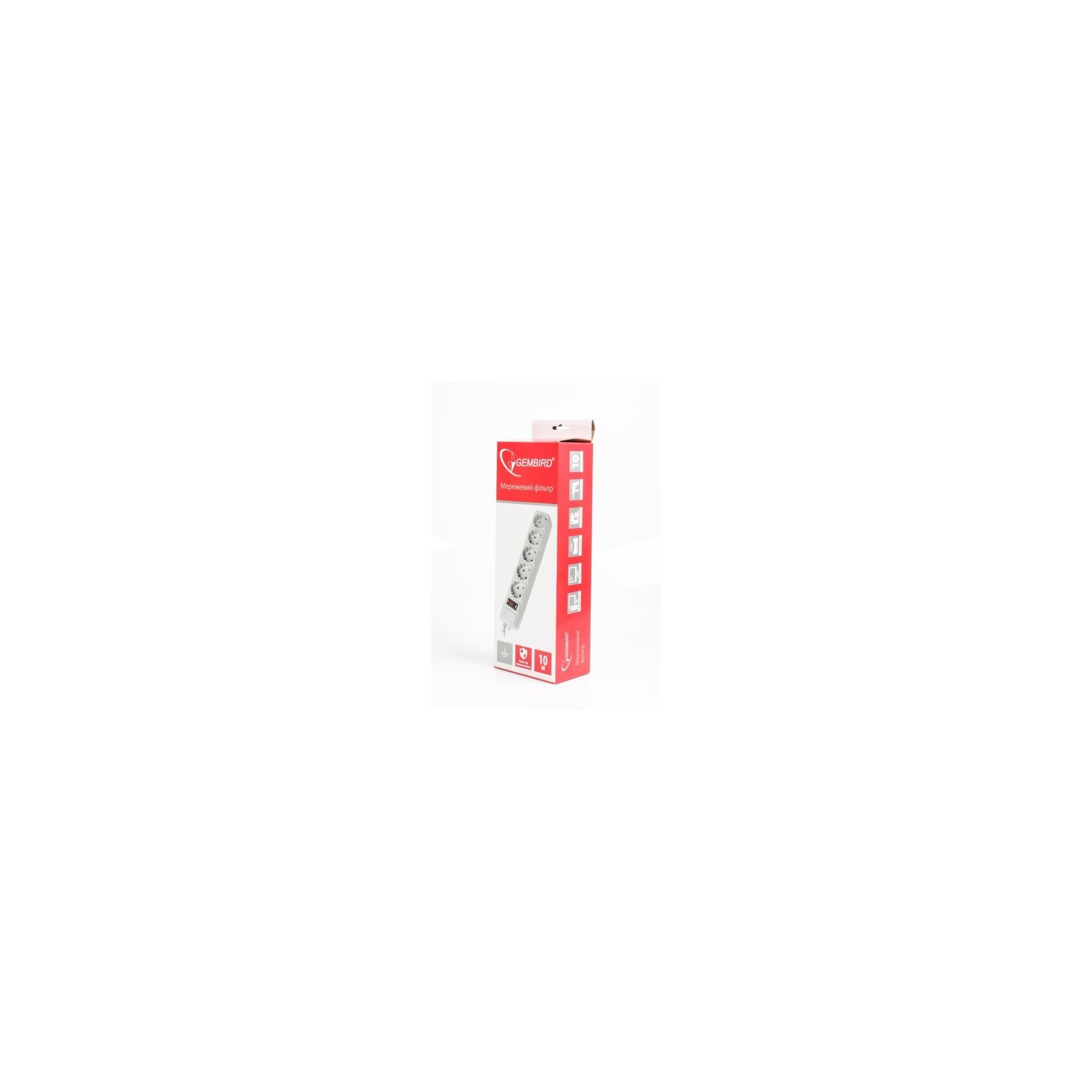 Сетевой фильтр GEMBIRD, 10 м, 5 розеток GEMBIRD - 1