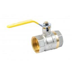 Кран шаровый Valve JG 1-1/4'' вв желтая ручка для газа J.G. - 1