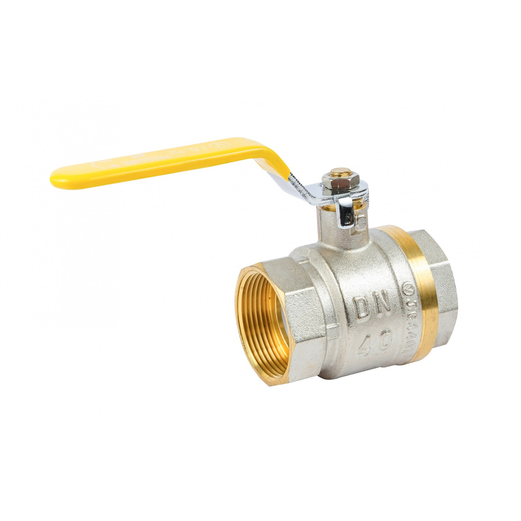 Кран шаровый Valve JG 1-1/2'' вв желтая ручка газовый J.G. - 1