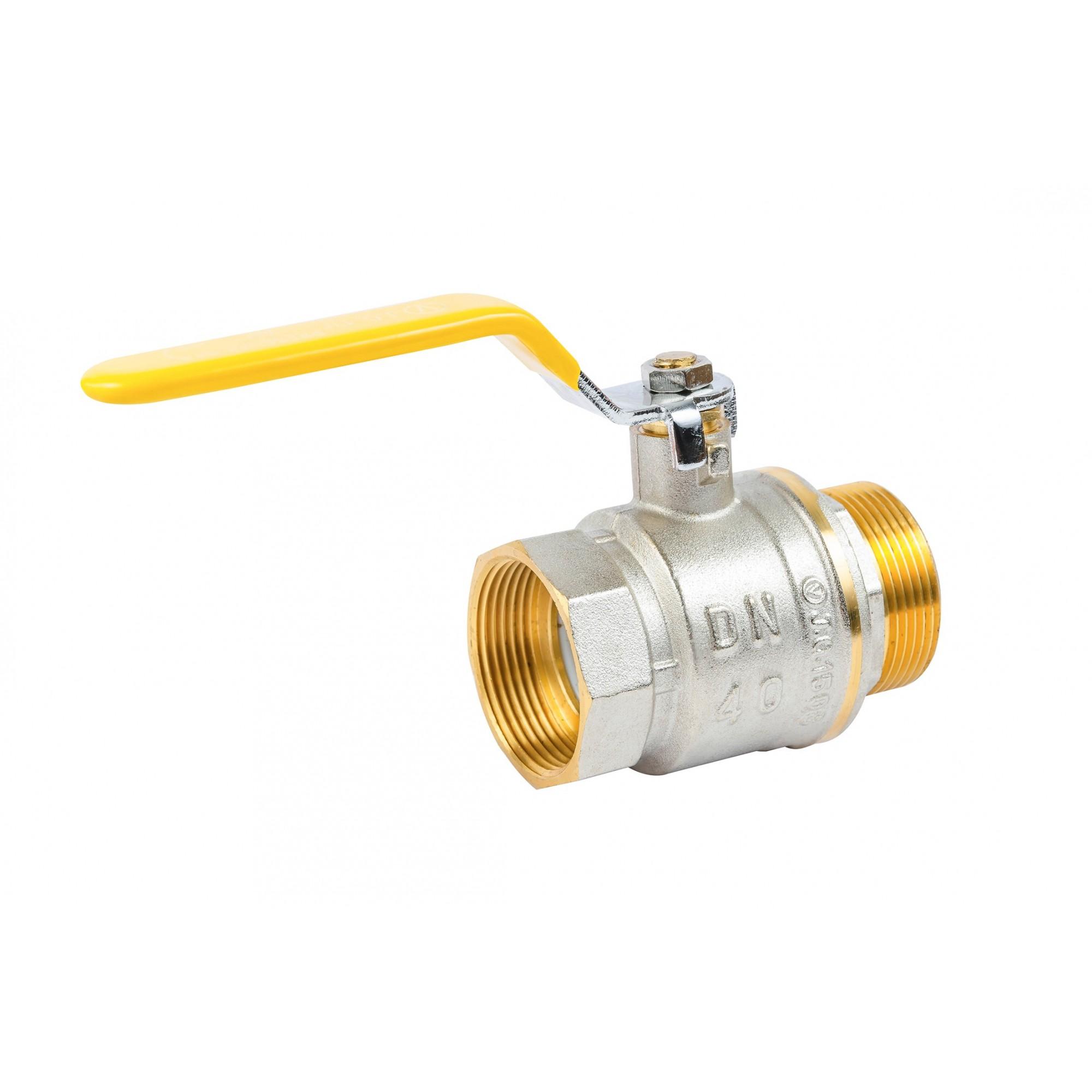 Кран шаровый Valve JG  1-1/2'' нв желтая ручка для газа J.G. - 1