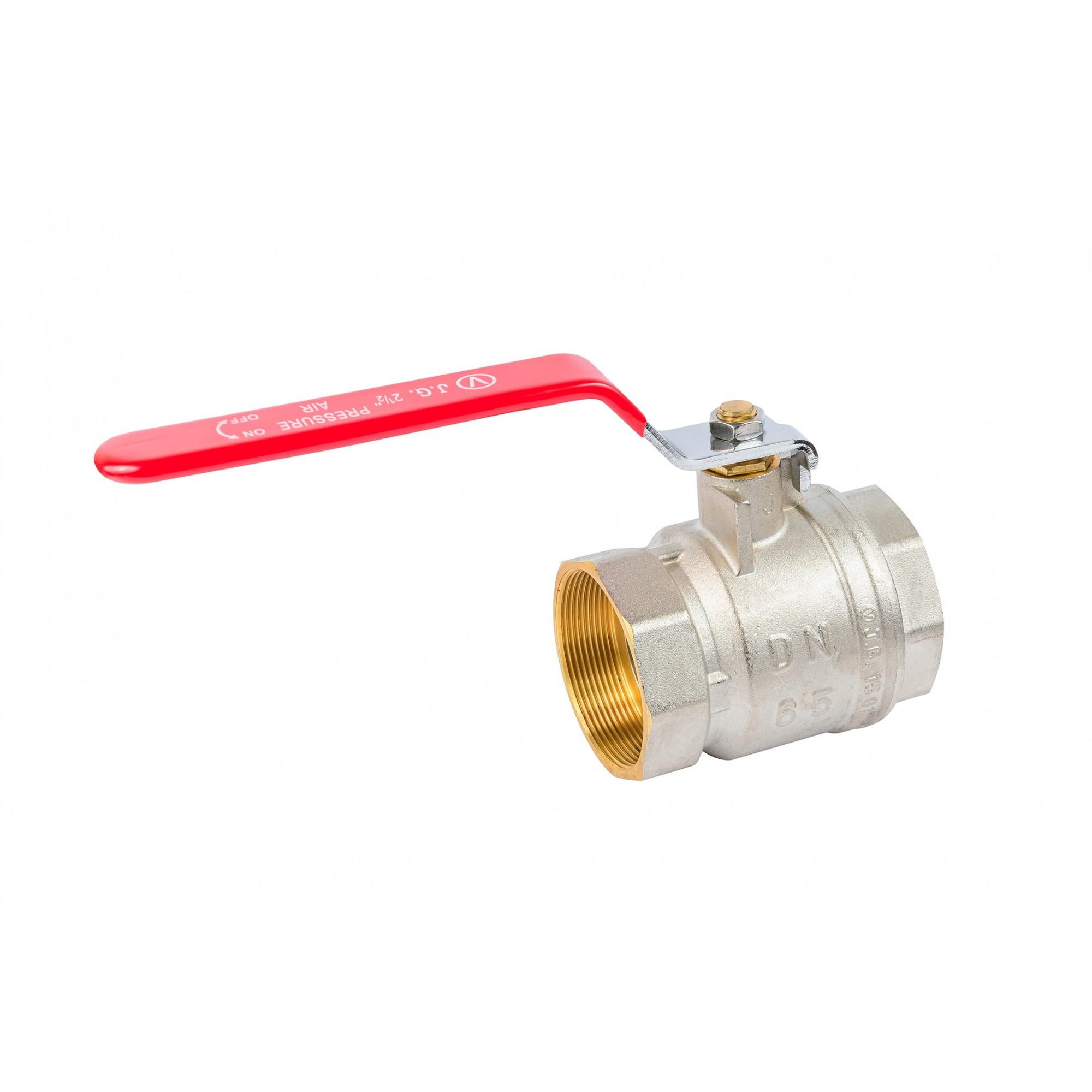 Кран шаровый Valve J.G. 2-1/2'' вв красная ручка для воды J.G. - 1