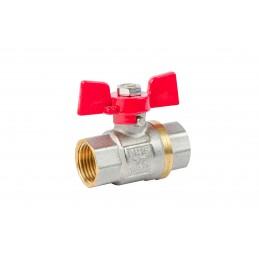 Кран шаровый ANGO 1/2'' вв красная бабочка для воды, Pn 40 ANGO - 1