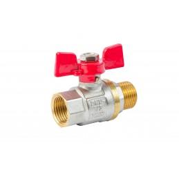 Кран шаровый ANGO 1/2'' нв красная бабочка для воды, Pn 40 ANGO - 1