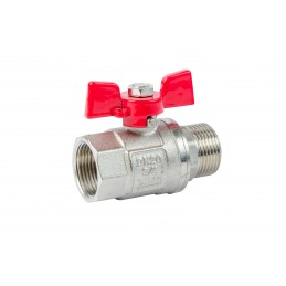 Кран шаровый ANGO 3/4'' нв красная бабочка Pn 40, для воды ANGO - 1