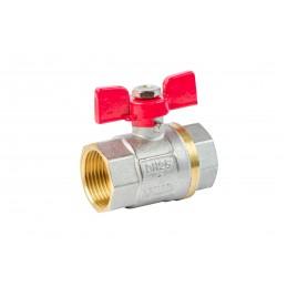 Кран шаровый ANGO 1'' вв красная бабочка для воды, Pn 40 ANGO - 1