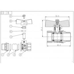 Кран шаровый Valve JG 1/2'' нв жб газовый J.G. - 2