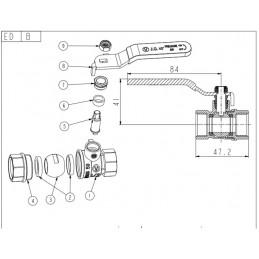 Кран шаровый Valve JG 1/2'' вв кр для воды J.G. - 2
