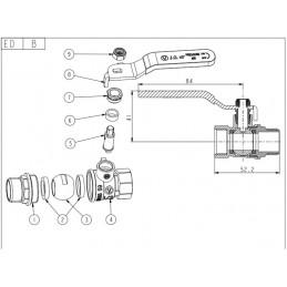 Кран шаровый Valve JG 1/2'' нв жр газовый J.G. - 2