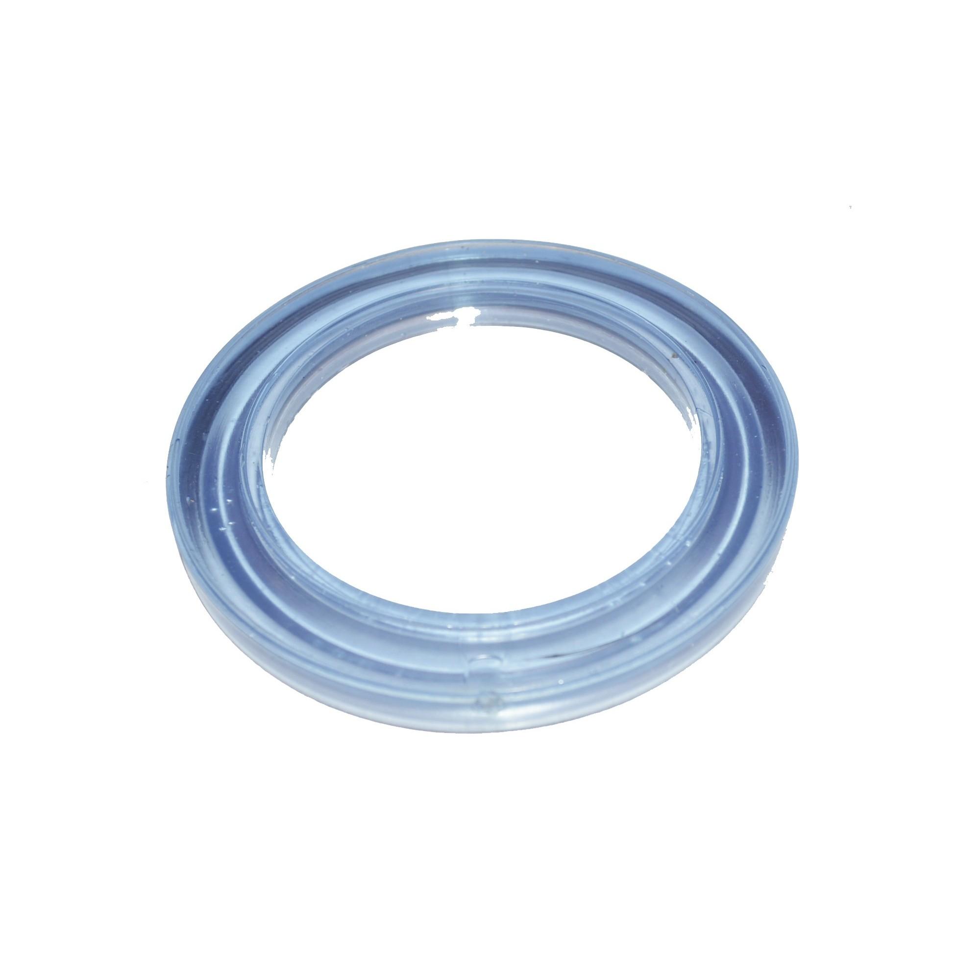 Прокладка под стойку арматуры бачка, универсальная, силикон (83*59*7)  - 1