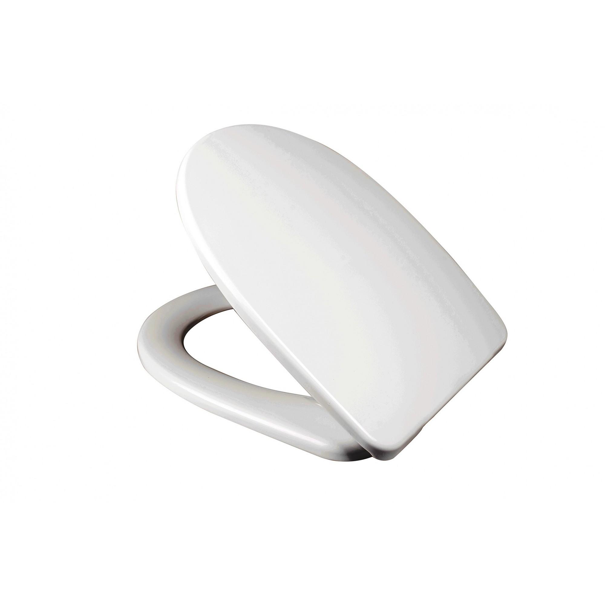 Крышка для унитаза белая SYDANIT СУ 79, полиропилен, металлический крепеж