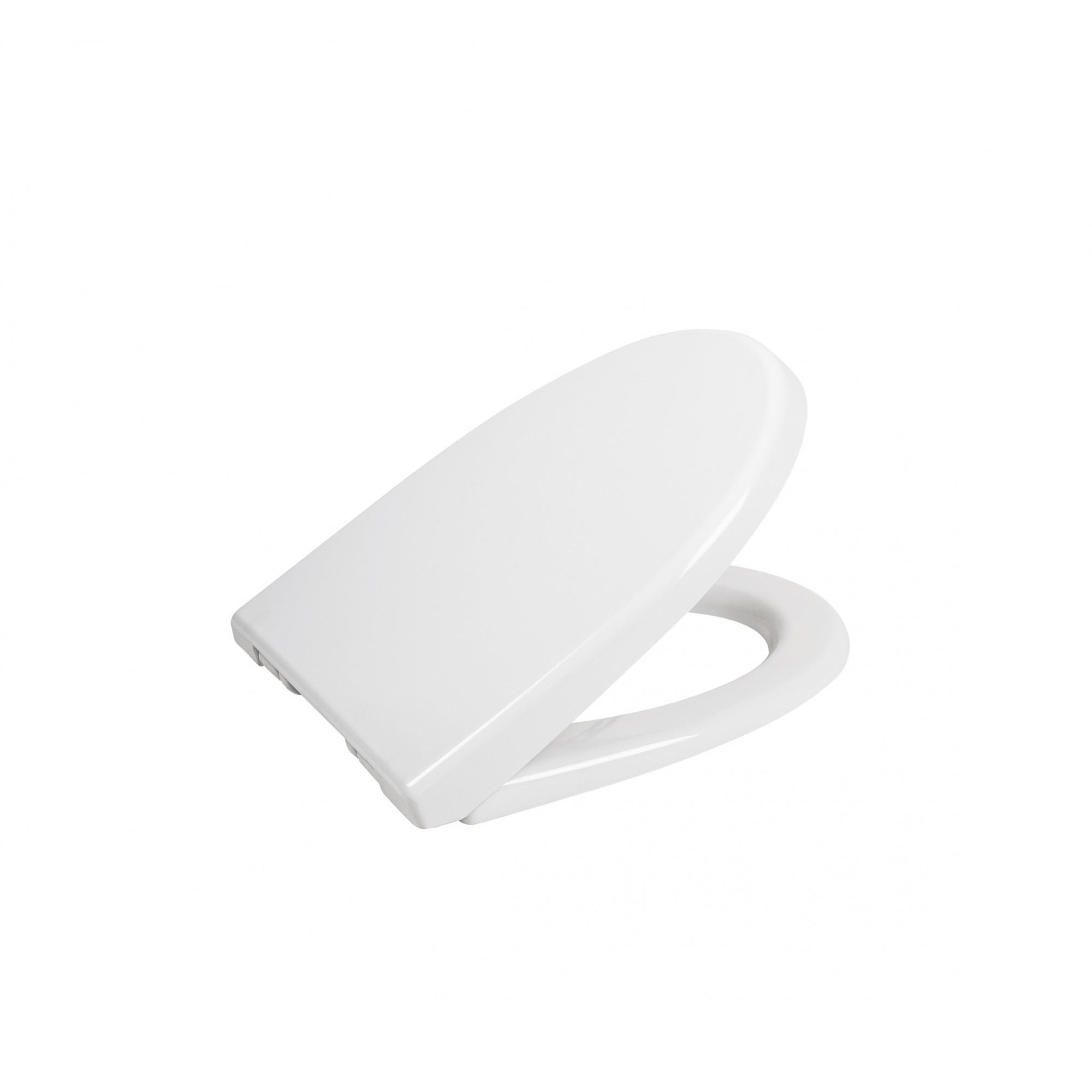 Крышка для унитаза SYDANIT белая ЛОТОС, дюропласт с микролифтом