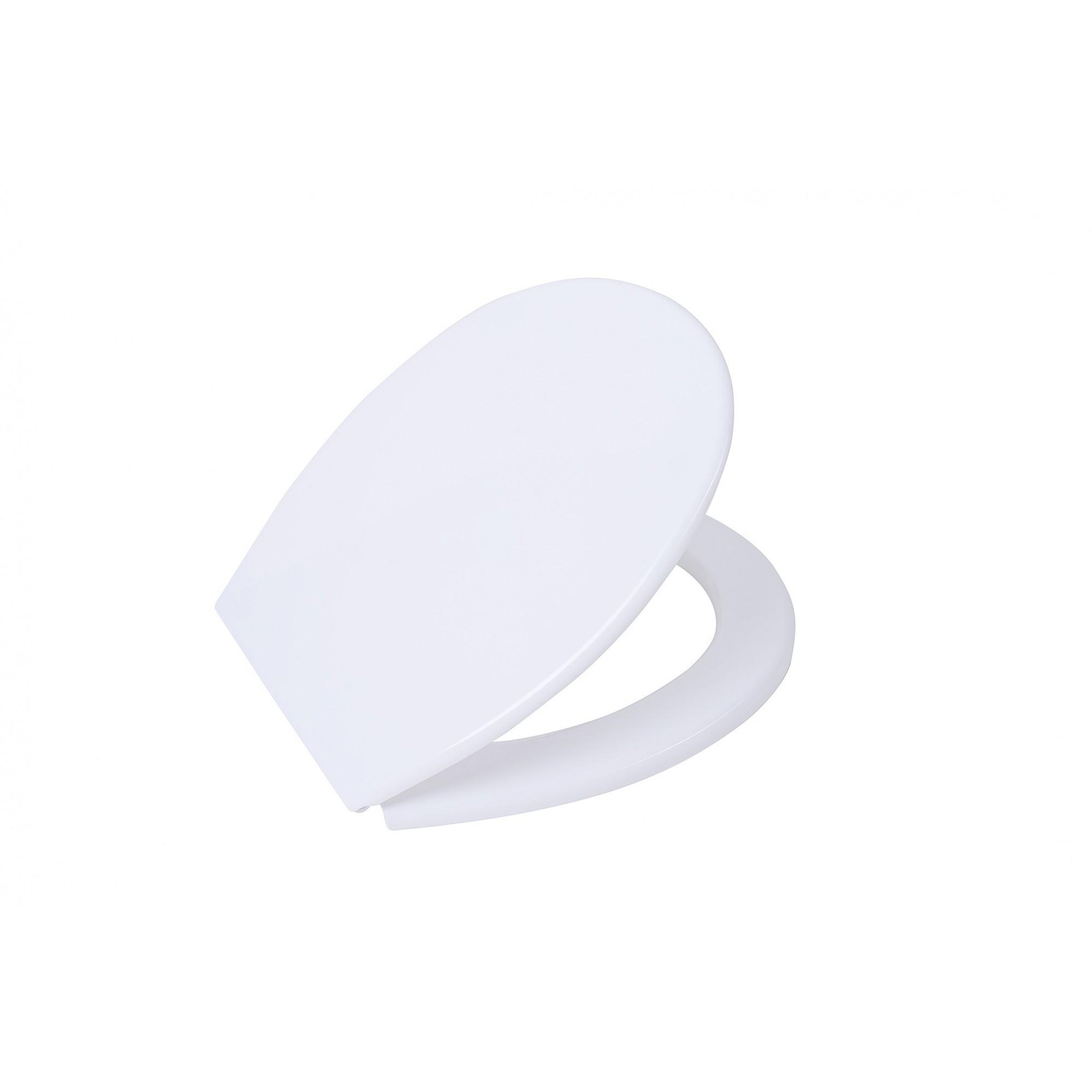 Крышка для унитаза SYDANIT белая УНИВЕРСАЛЬНОЕ, дюропласт с микролифтом SYDANIT - 1