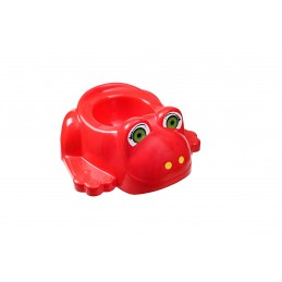 Детский горшок с крышкой SYDANIT ЖАБКА красный SYDANIT - 1