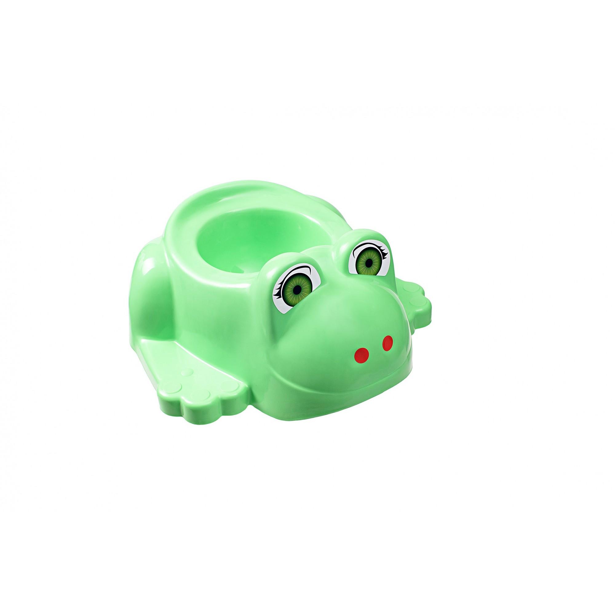 Детский горшок с крышкой SYDANIT ЖАБКА зеленый SYDANIT - 1