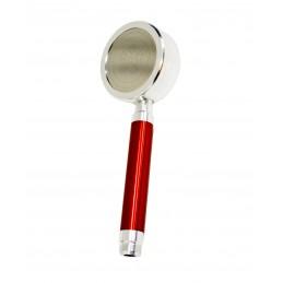 Лейка душа алюминиевая разборная с фильтром, цвет ручки красный ANGO - 1