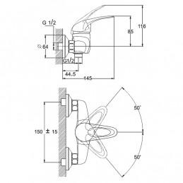 Смеситель для ванны Solone NHK6-C048 Zegor - 3