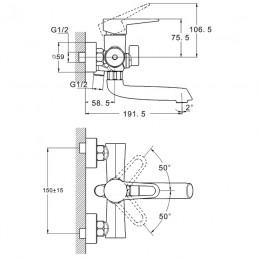 Смеситель для ванны Zegor PUD3-A045 Zegor - 4