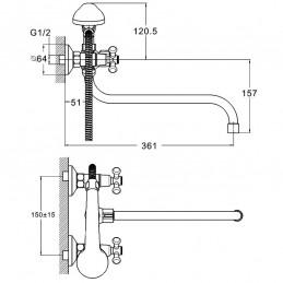 Смеситель для ванны Zegor DMT7-A722 Zegor - 4