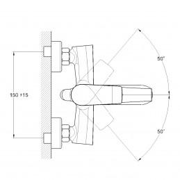 Смеситель для ванной TROYA FOB3-A134 Troya - 3
