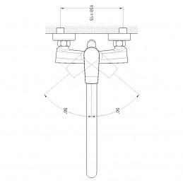 Смеситель для ванной TROYA FOB7-A134 Troya - 1