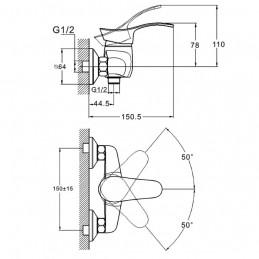 Смеситель для душевой кабины Zegor NHK5  (NHK5-A048) Zegor - 2
