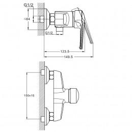 Смеситель для душевой кабины Zegor SWZ5  (SWZ5-A182) Zegor - 3