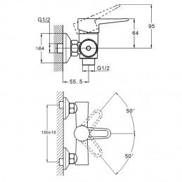Смеситель для душевой кабины Zegor PUD5 (PUD5-A045) Zegor - 2