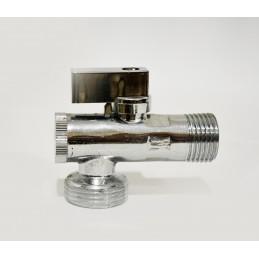 Кран угловой (приборный) с фильтром 1/2''х1/2'' ANGO хром 2631 ANGO - 2