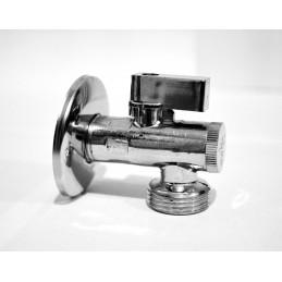 Кран угловой (приборный) с фильтром 1/2''х1/2'' ANGO хром 2631 ANGO - 1