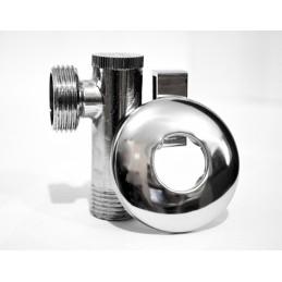 Кран угловой (приборный) с фильтром 1/2''х1/2'' ANGO хром 2631 ANGO - 4