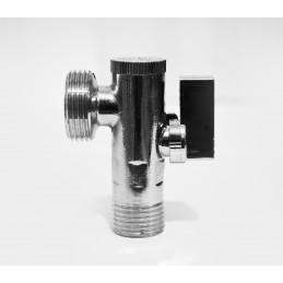 Кран угловой (приборный) с фильтром 1/2''х1/2'' ANGO хром 2631 ANGO - 5