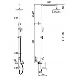 Душевая система Solone JAT16-A094 Solone - 2